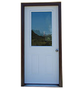 "36"" 1-Lite Steel Entry Door"