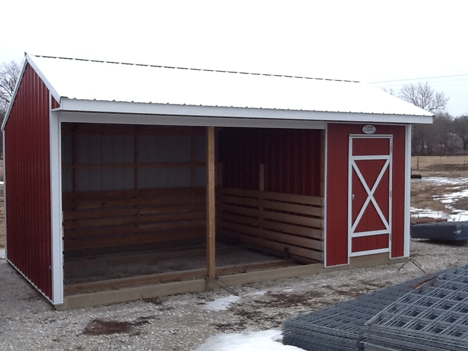 Horse Shelters Metal : Animal shelters midwest storage barns