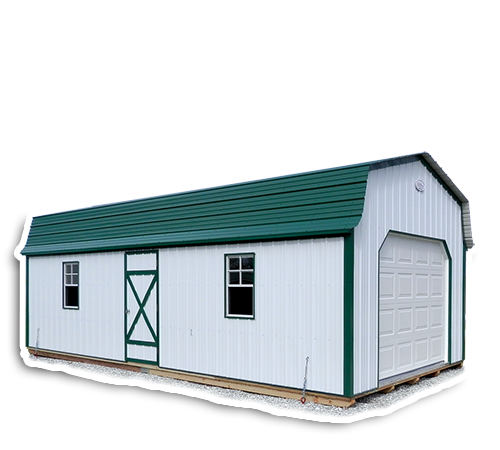Home midwest storage barns for Gambrel roof metal building