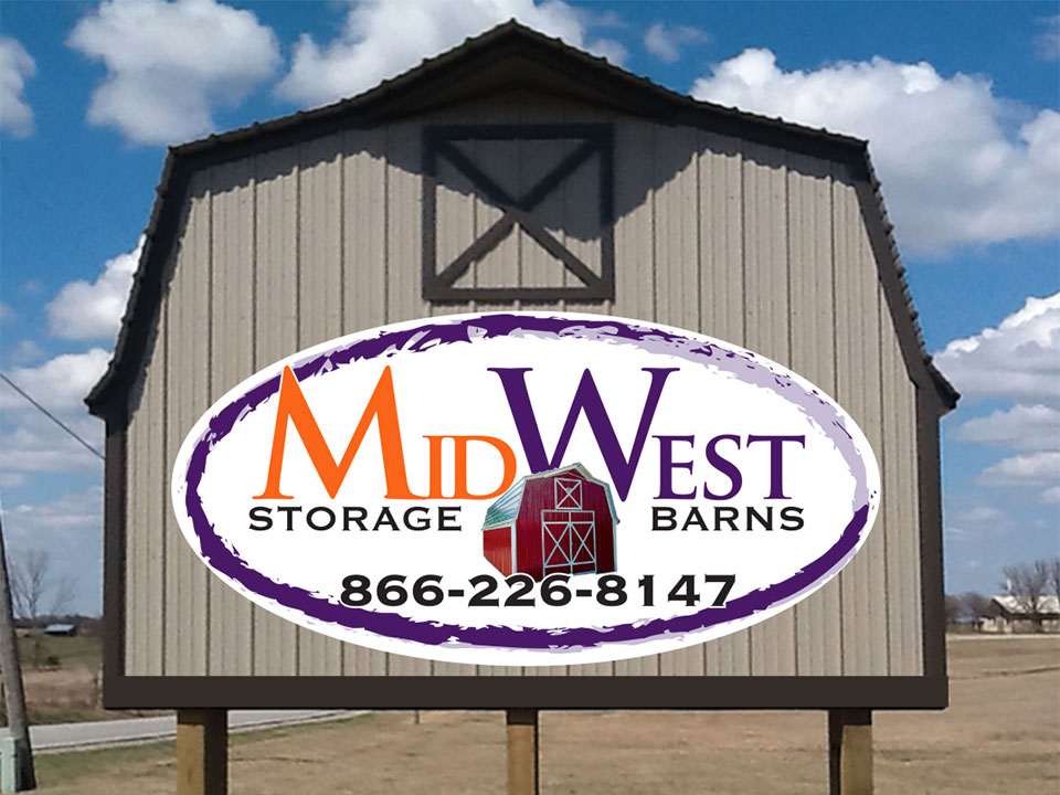 MidWest Storage Barns Hwy Sign